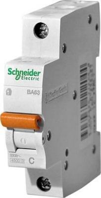 Автоматический выключатель Schneider Electric ВА63 1П 16A C 11203 выключатель двухклавишный schneider electric 16a e8232l2f wg