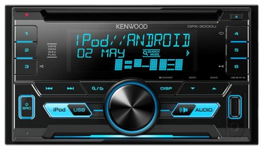 Автомагнитола Kenwood DPX-3000U USB MP3 CD FM RDS 2DIN 4х50Вт пульт ДУ черный gps navigation hd 2din 6 2 inch car stereo dvd player bluetooth ipod mp3 tv camera