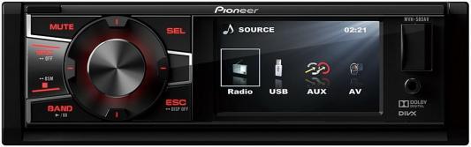 Автомагнитола Pioneer MVH-580AV USB MP3 FM RDS 1DIN 4x50Вт черный автомагнитола kenwood kdc 300uv usb mp3 cd fm rds 1din 4х50вт черный