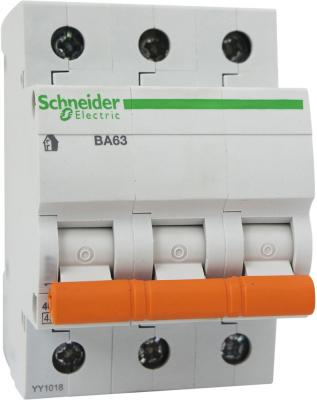 Автоматический выключатель Schneider Electric ВА63 3П 10A C 11222 автоматический выключатель schneider electric ik60 3п 10a c a9k24310