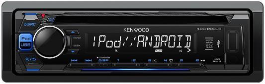 Автомагнитола Kenwood KDC-200UB USB MP3 CD FM RDS 1DIN 4х50Вт черный автомагнитола kenwood ddx9716btsr 7 800х480 usb mp3 cd dvd fm rds 2din 4x50вт черный