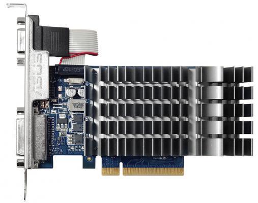 Видеокарта 1024Mb ASUS GeForce GT710 PCI-E 64bit GDDR3 DVI HDMI CRT HDCP 710-1-SL-BRK Retail видеокарта 1024mb inno3d geforce gt710 pci e dvi hdmi vga hdcp n710 1sdv d3bx retail