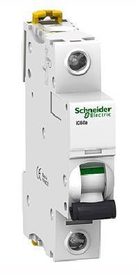 Автоматический выключатель Schneider Electric iC60N 1П 16A B A9F78116 выключатель двухклавишный schneider electric 16a e8232l2f wg