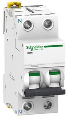 Автоматический выключатель Schneider Electric iC60N 2П 50A C A9F79250  автоматический выключатель schneider electric ic60n 1п 50a c a9f79150