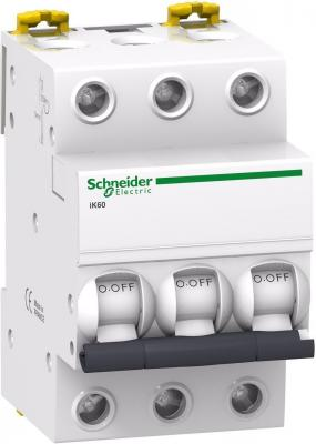 Автоматический выключатель Schneider Electric iK60 3П 63A C A9K24363 автоматический выключатель schneider electric ik60 3п 10a c a9k24310