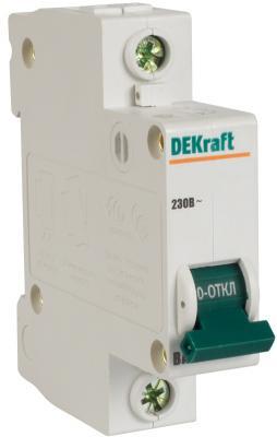 Автоматический выключатель DEKraft ВА-103 1П 16А C 6кА 12058DEK реле dekraft 23114dek