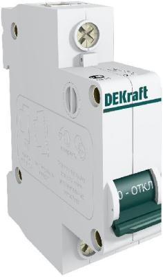 Автоматический выключатель DEKraft ВА-101 1П 6А C 4.5кА 11052DEK автоматический выключатель dekraft ва 103 1п 20а c 6ка 12059dek