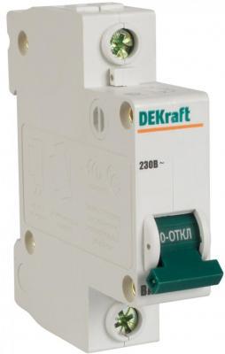 Автоматический выключатель DEKraft ВА-103 1П 6А C 6кА 12054DEK реле dekraft 23114dek