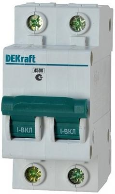 Автоматический выключатель DEKraft ВА-101 2П 10А D 4.5кА 11113DEK разрядник dekraft 18021dek