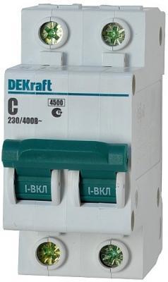 Автоматический выключатель DEKraft ВА-101 2П 3А C 4.5кА 11063DEK