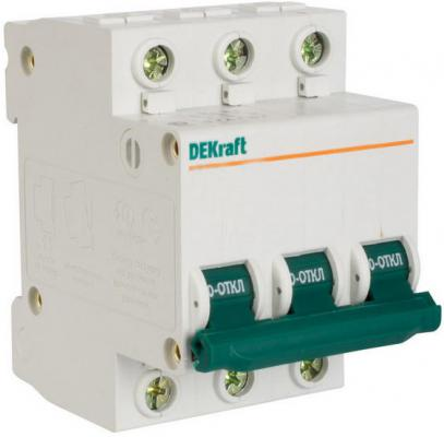 Автоматический выключатель DEKraft ВА-103 3П 10А C 6кА 12088DEK