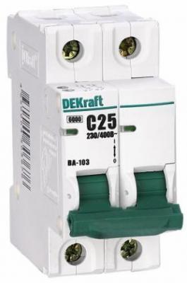 Автоматический выключатель DEKraft ВА-103 3П 50А C 6кА 12095DEK  автоматический выключатель модульный ва101 1p 063a c dekraft 11060dek 121907