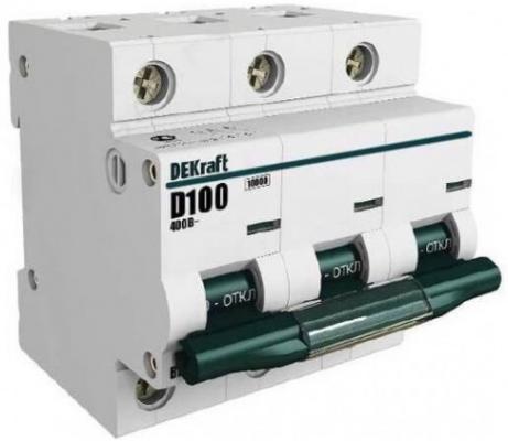Автоматический выключатель DEKraft ВА-201 3П 63А С 10кА 13007DEK автоматический выключатель dekraft ва 103 1п 20а c 6ка 12059dek