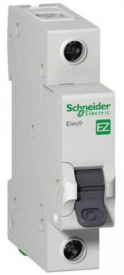 Автоматический выключатель Schneider Electric EASY 9 1П 16A C EZ9F34116 автоматический модульный выключатель easy 9 1п c 16а 4 5ка schneider electric ez9f34116