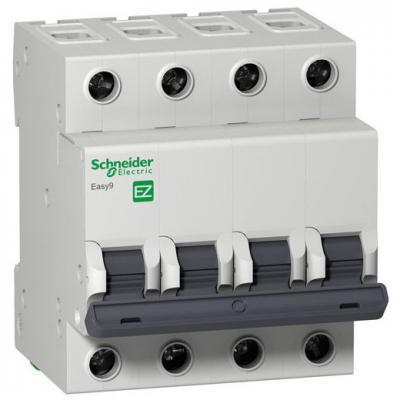 Автоматический выключатель Schneider Electric EASY 9 4П 25A C EZ9F34425 автоматический выключатель schneider electric easy 9 4п 32a c ez9f34432