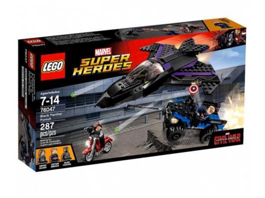 Конструктор Lego Super Heroes: Преследование Чёрной Пантеры 287 элементов 76047
