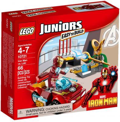 Конструктор Lego Джуниорс Железный человек против Локи 66 элементов 10721