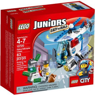 Конструктор LEGO Джуниорс Погоня на полицейском вертолёте 63 элемента 10720