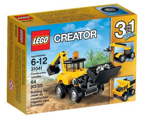 Конструктор Lego Creator: Строительная техника 64 элемента 31041