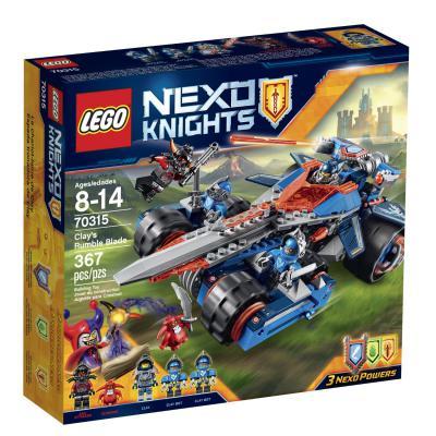 Конструктор Lego Нексо: Устрашающий разрушитель Клэя 367 элементов 70315