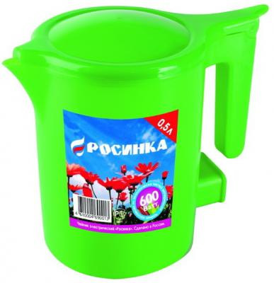 Чайник Росинка ЭЧ-0,5/0,5-220 500 Вт зелёный 0.5 л пластик