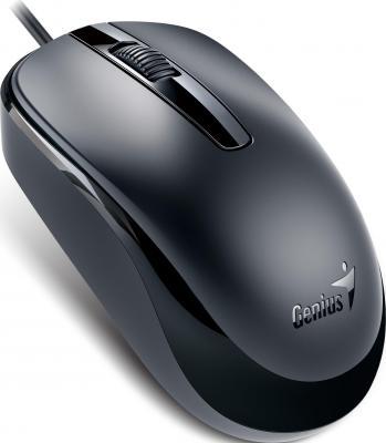 лучшая цена Мышь проводная Genius DX-120 чёрный USB