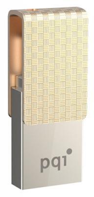 Флешка USB 64Gb PQI Connect 313 6007-064GR102A золотистый
