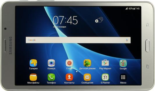 "Планшет Samsung Galaxy Tab A 6 7"" 8Gb Silver Wi-Fi 3G Bluetooth LTE Android SM-T285NZSASER"