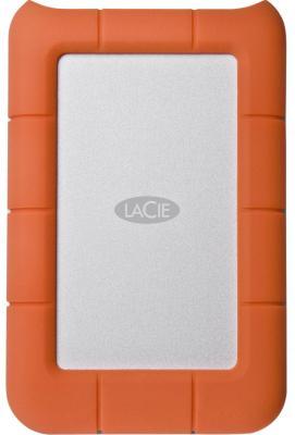 """Внешний жесткий диск 2.5"""" USB3.0 4Tb Lacie Rugged Mini LAC9000633 бело-оранжевый"""