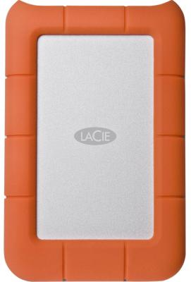 Внешний жесткий диск 2.5 USB3.0 4Tb Lacie Rugged Mini LAC9000633 бело-оранжевый lacie rugged mini 2tb внешний жесткий диск