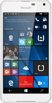 "Смартфон Microsoft Lumia 650 Dual SIM белый 5"" 16 Гб NFC LTE Wi-Fi GPS A00027271"