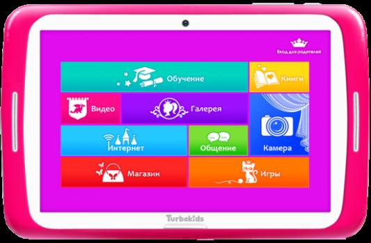 "Планшет TurboSmart Turbokids Princess 7"" 8Gb розовый Wi-Fi Bluetooth Android Princess"