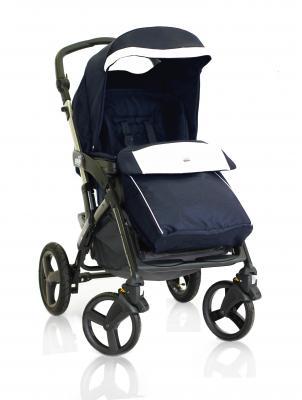 Прогулочная коляска Cam Dinamico 4S (цвет 565/синий с белой эко-кожей)