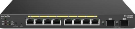 Купить Коммутатор EnGenius EGS2110P управляемый 8 портов 10/100/1000Mbps 2xSFP