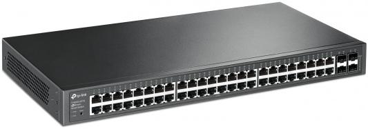 Коммутатор TP-LINK T1600G-52TS управляемый 48 портов 10/100/1000Mbps tp link tl wn851n 300m беспроводная pci карта