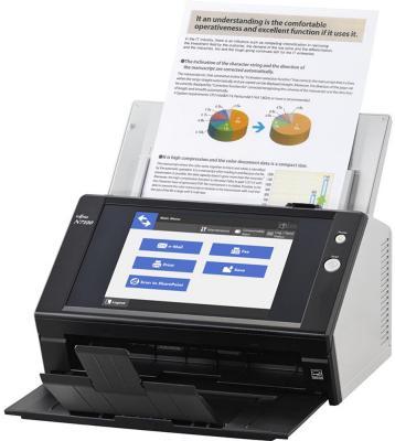 Фото - Сканер Fujitsu N7100 протяжный А4 600x600 dpi CIS 25ppm PA03706-B001 сканер fujitsu fi 7180 протяжный а4 600x600 dpi ccd 80ppm usb черный pa03670 b001