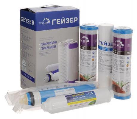 Комплект картриджей Гейзер RO1 50090 гейзер комплект сменных элементов ro1 50090