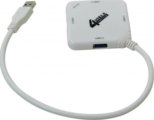 Концентратор USB 3.0 ORIENT BC-308W 4 х USB 3.0 белый концентратор usb 3 0 orient bc 306 4 х usb 3 0 черный