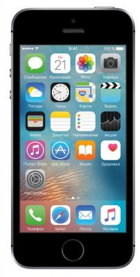 "Смартфон Apple iPhone SE серый 4"" 16 Гб NFC LTE Wi-Fi GPS MLLN2RU/A"