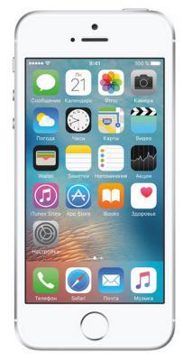 "Смартфон Apple iPhone SE серебристый 4"" 64 Гб NFC LTE Wi-Fi GPS MLM72RU/A"