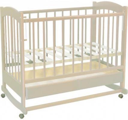 Кроватка-качалка Ведрус Радуга (белый)