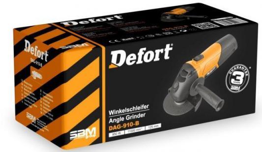 Угловая шлифомашина Defort DAG-910-B 850Вт 125мм 98299687