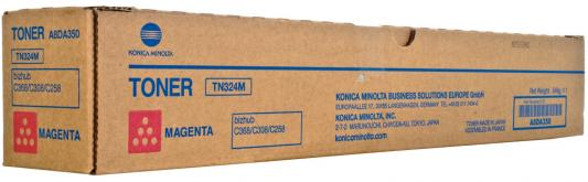 Тонер Konica Minolta A8DA350 TN-324M для bizhub C308/C368 пурпурный c200 2 color copier laser toner powder for konica minolta bizhub c200 c203 c253 c353 c8650 c 200 203 253 353 8650 tn314 1kg bag
