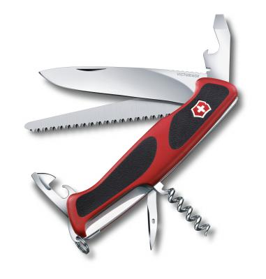 Нож перочинный Victorinox RangerGrip 55 0.9563.C 130мм 12 функций красно-черный