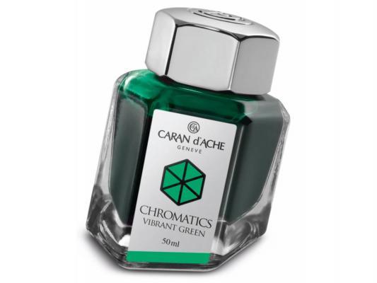 Флакон с чернилами Carandache Chromatics Vibrant Green чернила зеленый 50мл 8011.210