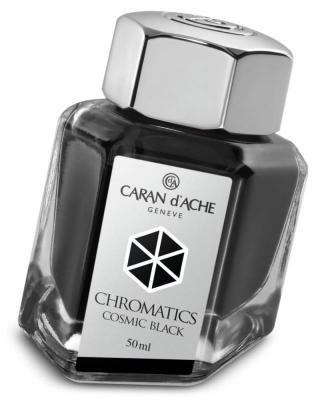 Флакон с чернилами Carandache Chromatics Cosmic Black чернила черный 50мл 8011.009