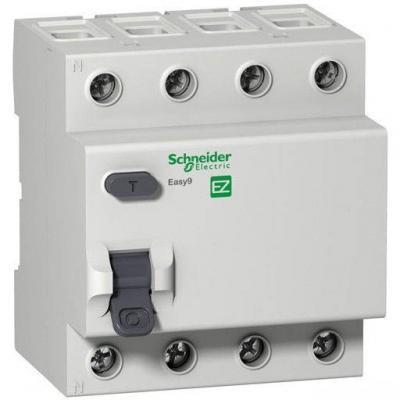 Выключатель дифференциального тока Schneider Electric EASY 9 4П 25А 30мА AC EZ9R34425