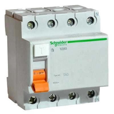 Выключатель дифференциального тока Schneider Electric ВД63 4П 40A 30мА 11463 выключатель дифференциального тока schneider electric вд63 2п 40a 30ма 11452