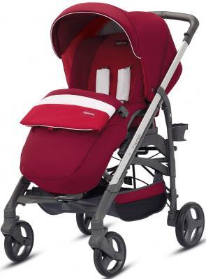 Купить Прогулочная коляска Inglesina Trilogy All Over (amarena/шасси grey/цельная ручка), красный, Прогулочные коляски