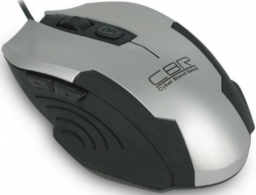 Мышь проводная CBR CM 333 чёрный серебристый USB мышь cbr cm 500 grey